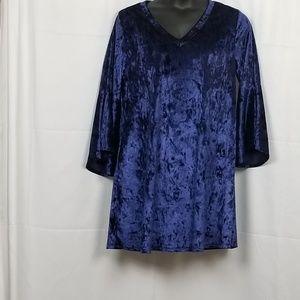 Paisley Grace Velvet Bliss Dress Sapphire XL